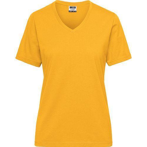 Tee-shirt workwear Bio Femme - jaune doré