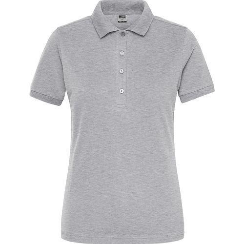 Polo Workwear Bio Femme - gris chiné
