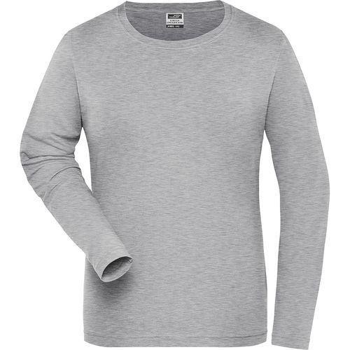 Tee-shirt workwear Bio Femme - gris chiné