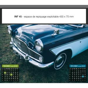 CALENDRIERS FEUILLETS VOITURES VINTAGE INF 45 (450 x 400 mm)