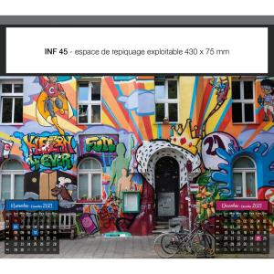 CALENDRIERS FEUILLETS STREET ART INF 45 (450 x 400 mm)