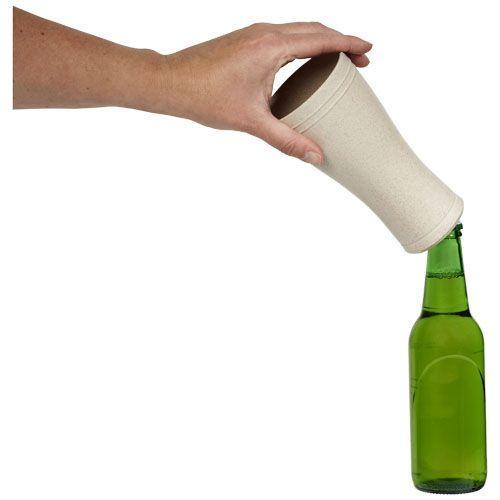 Verre à bière en paille de blé 400 ml Tagus - beige