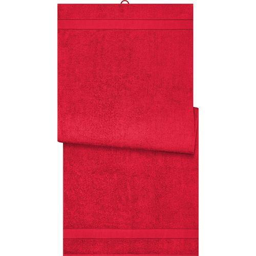 Drap de sauna - rouge orient