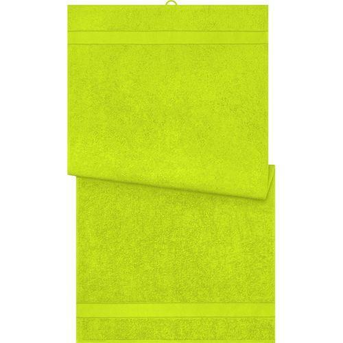 Serviette de bain - jaune acide