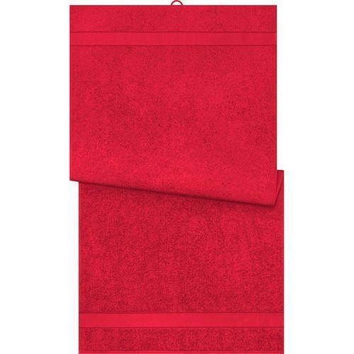 Serviette de bain - rouge orient