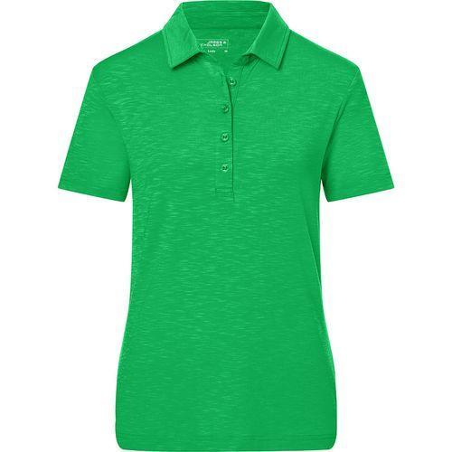 Polo flammé Femme - vert fougère