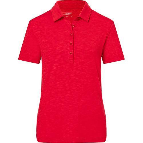 Polo flammé Femme - rouge