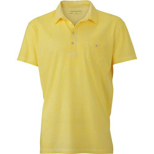 Polo fashion Homme - jaune clair