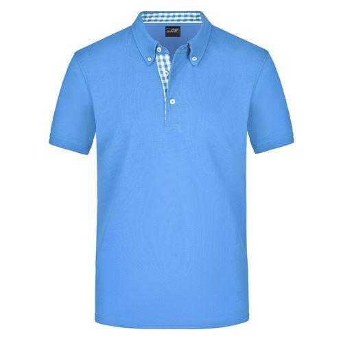 Polo fashion Homme - bleu glacier
