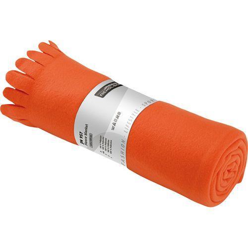 Plaid polaire - orange