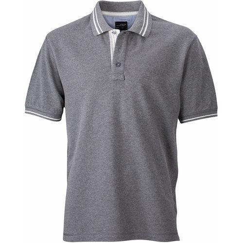 Polo fashion Homme - gris mélangé