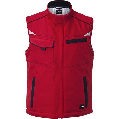 Bodywarmer hiver softshell Workwear - rouge