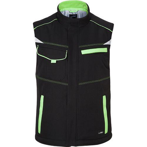 Bodywarmer hiver softshell Workwear - vert citron