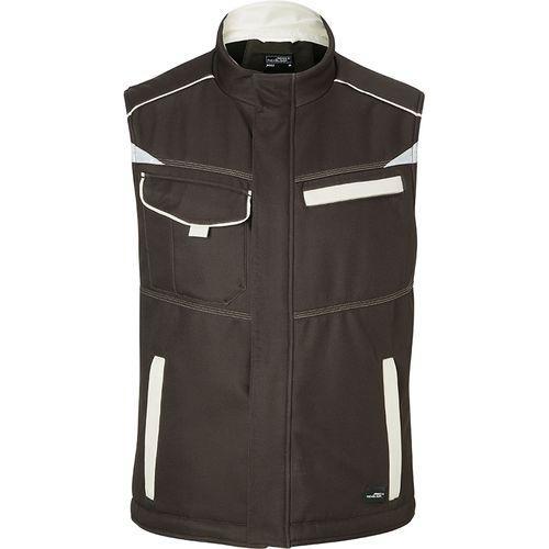 Bodywarmer hiver softshell Workwear - marron
