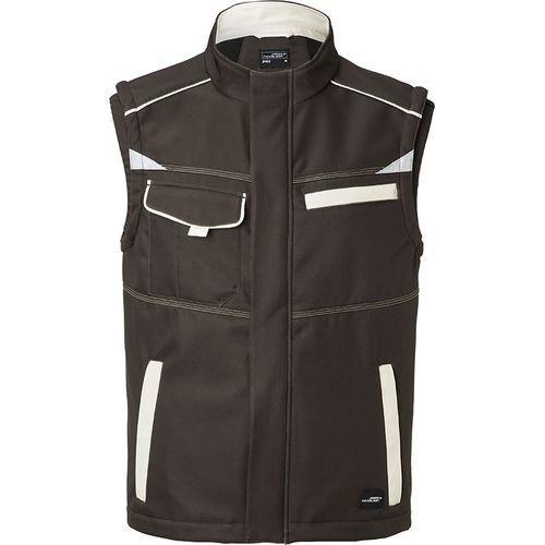 Bodywarmer softshell Workwear - marron