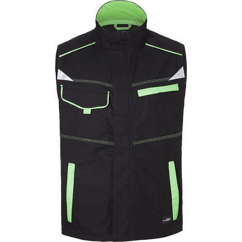 Bodywarmer workwear Fermeture zippée avec protège menton - vert citron