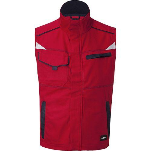 Bodywarmer workwear Fermeture zippée avec protège menton - rouge