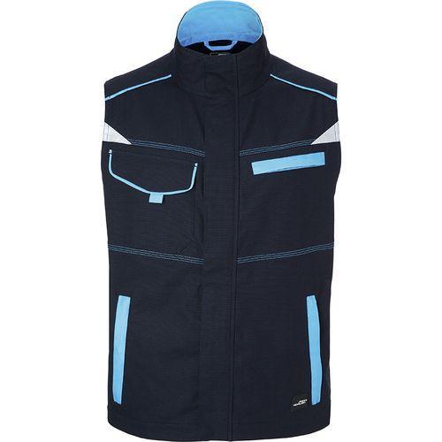 Bodywarmer workwear Fermeture zippée avec protège menton - turquoise