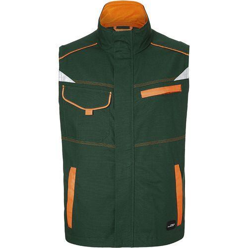 Bodywarmer workwear Fermeture zippée avec protège menton - vert foncé