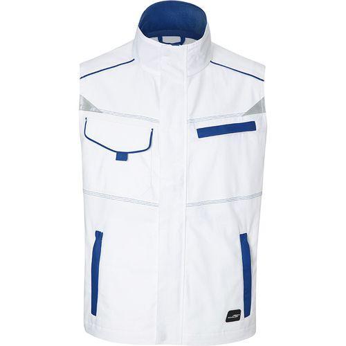 Bodywarmer workwear Fermeture zippée avec protège menton - bleu royal