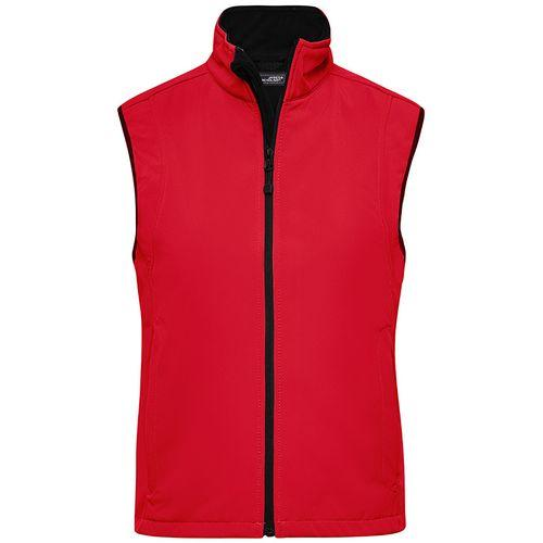 Bodywarmer softshell Femme - rouge