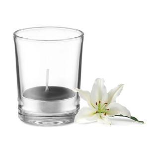 Bougie dans verre transparent