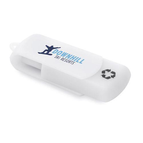 Clé USB en matériaux recyclés - blanc