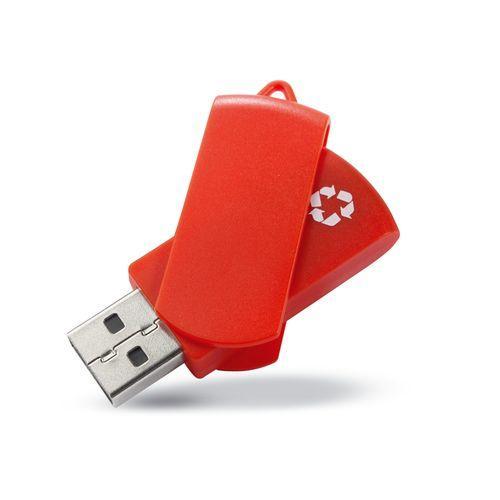 Clé USB en matériaux recyclés - rouge