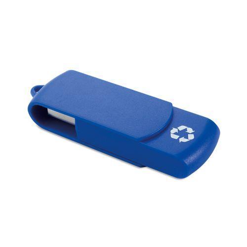 Clé USB en matériaux recyclés - bleu
