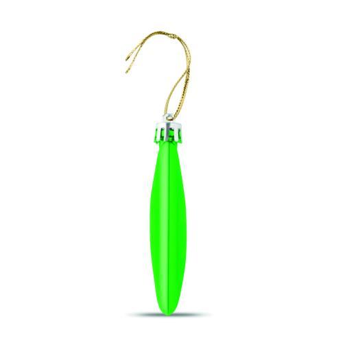 Boule de Noël plate - vert