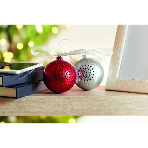 Haut parleur boule de Noël - argenté