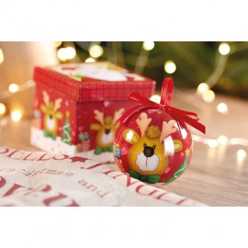 Boule de Noël et boîte. - multicolore