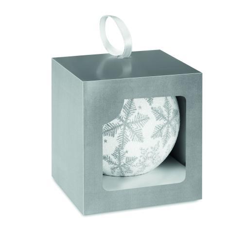 Boules de Noël en coffret en c - argenté