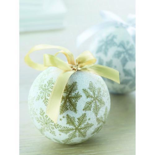 Boules de Noël en coffret en c - doré