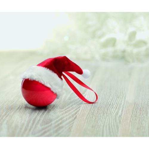 Boule de Noël avec bonnet de P - rouge