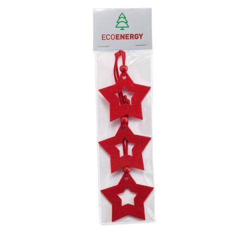 Déco Noël étoiles en feutre - rouge
