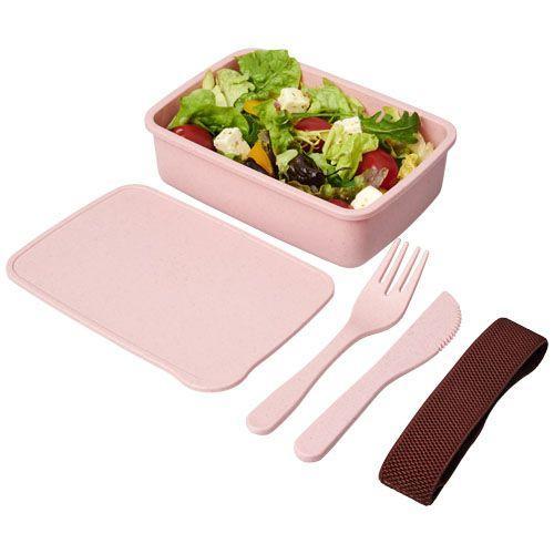Boîte à lunch Bamberg en fibres - rose clair