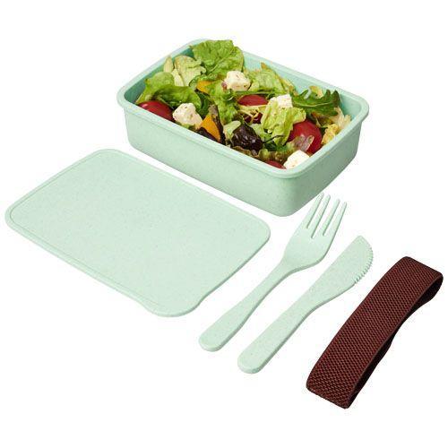 Boîte à lunch Bamberg en fibres - vert menthe