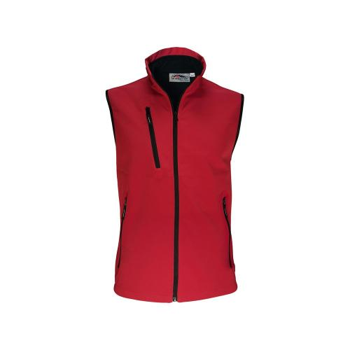 Bodywarmer Softshell Unisexe 2 Couches - rouge