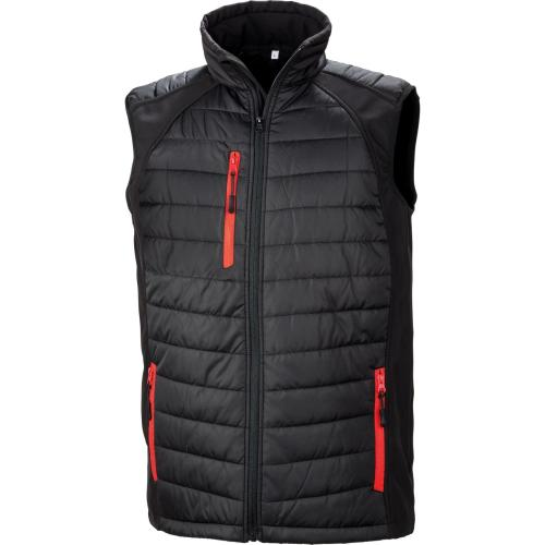 GILET SOFTSHELL BLACK COMPASS - rouge