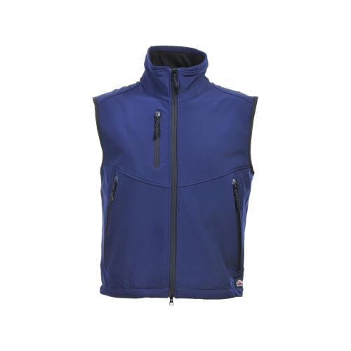 Bodywarmer Softshell 3 Couches - bleu marine