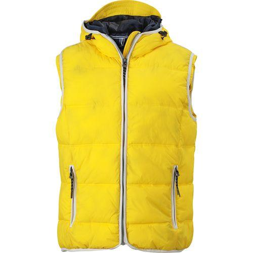 Bodywarmer matelassé Homme - jaune soleil