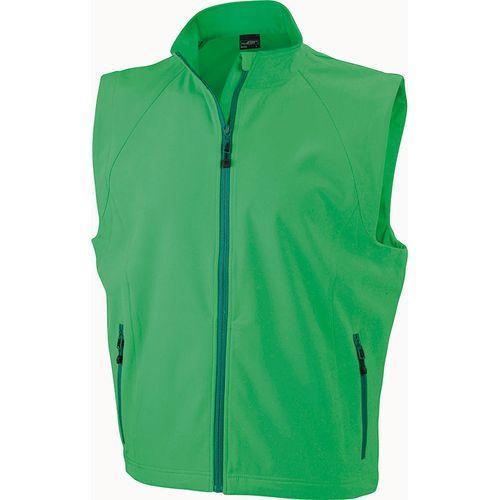 Bodywarmer softshell Homme - vert
