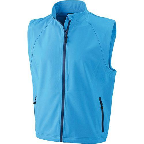 Bodywarmer softshell Homme - bleu azur