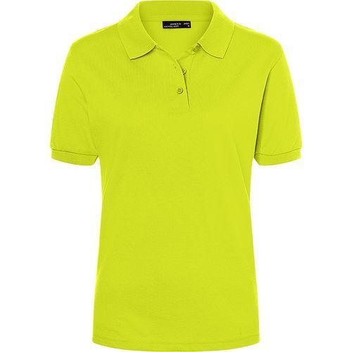 Polo classique Femme - jaune acide
