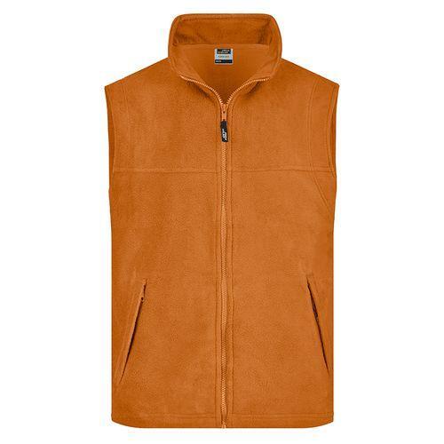 Bodywarmer polaire Homme - orange