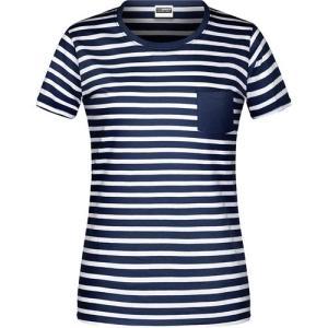 T-shirt bio rayé Femme