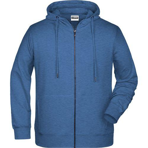Sweat-shirt capuche Homme - bleu denim clair mélangé