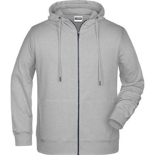 Sweat-shirt capuche Homme - gris clair chiné