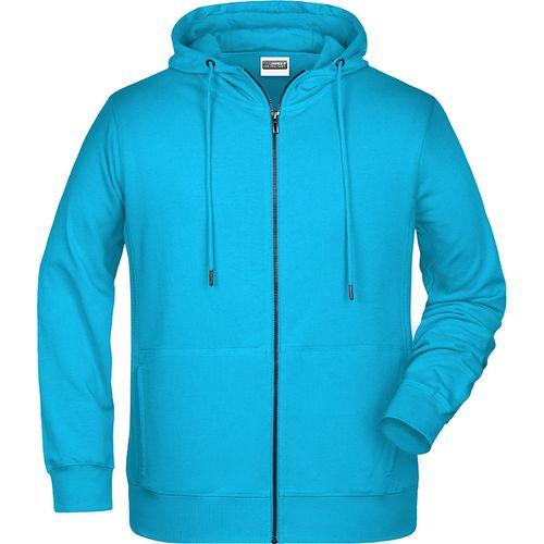 Sweat-shirt capuche Homme - turquoise